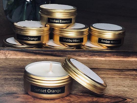 Sunset Orange Mini Candle (Gold)