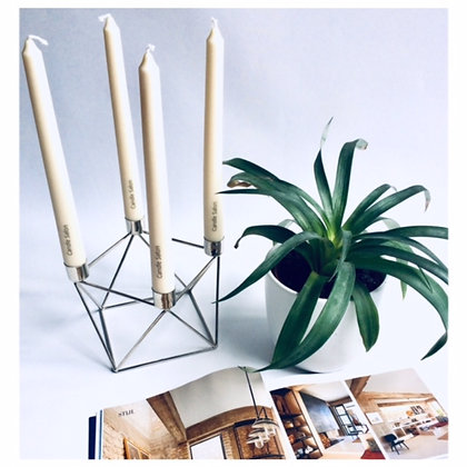 Silver candle 4pcs holder