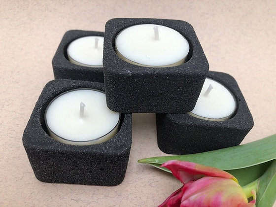 Tea Light Holders by Votive Wares Dark Gray 2pc