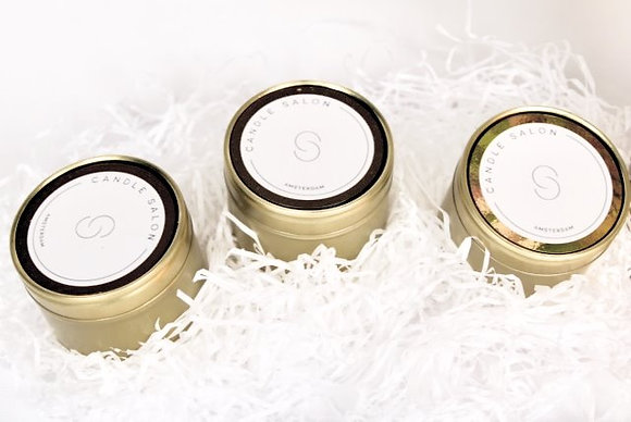 Candle Set of 3 Travel Tins