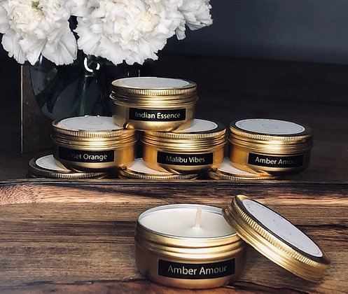 Amber Amour Mini Candle (Gold)