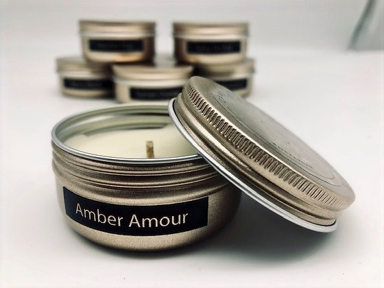 Amber Amour Mini Candle