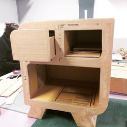 Meuble 2 tiroirs une niche
