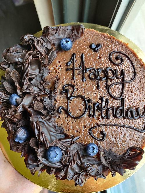 Gluten free flourless 55% dark Chocolate cake