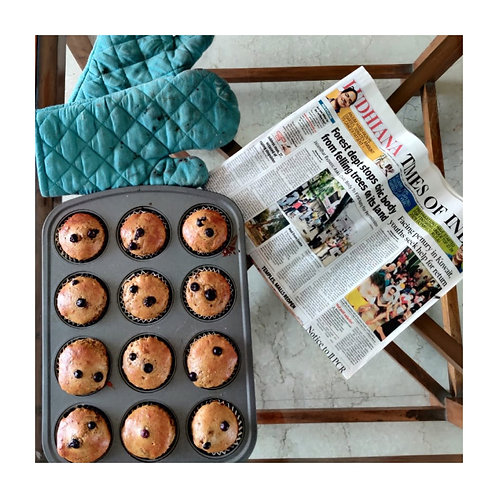 Protein enriched espresso & banana muffin