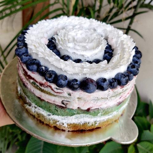 Fresh Blueberry Key Lime Cake