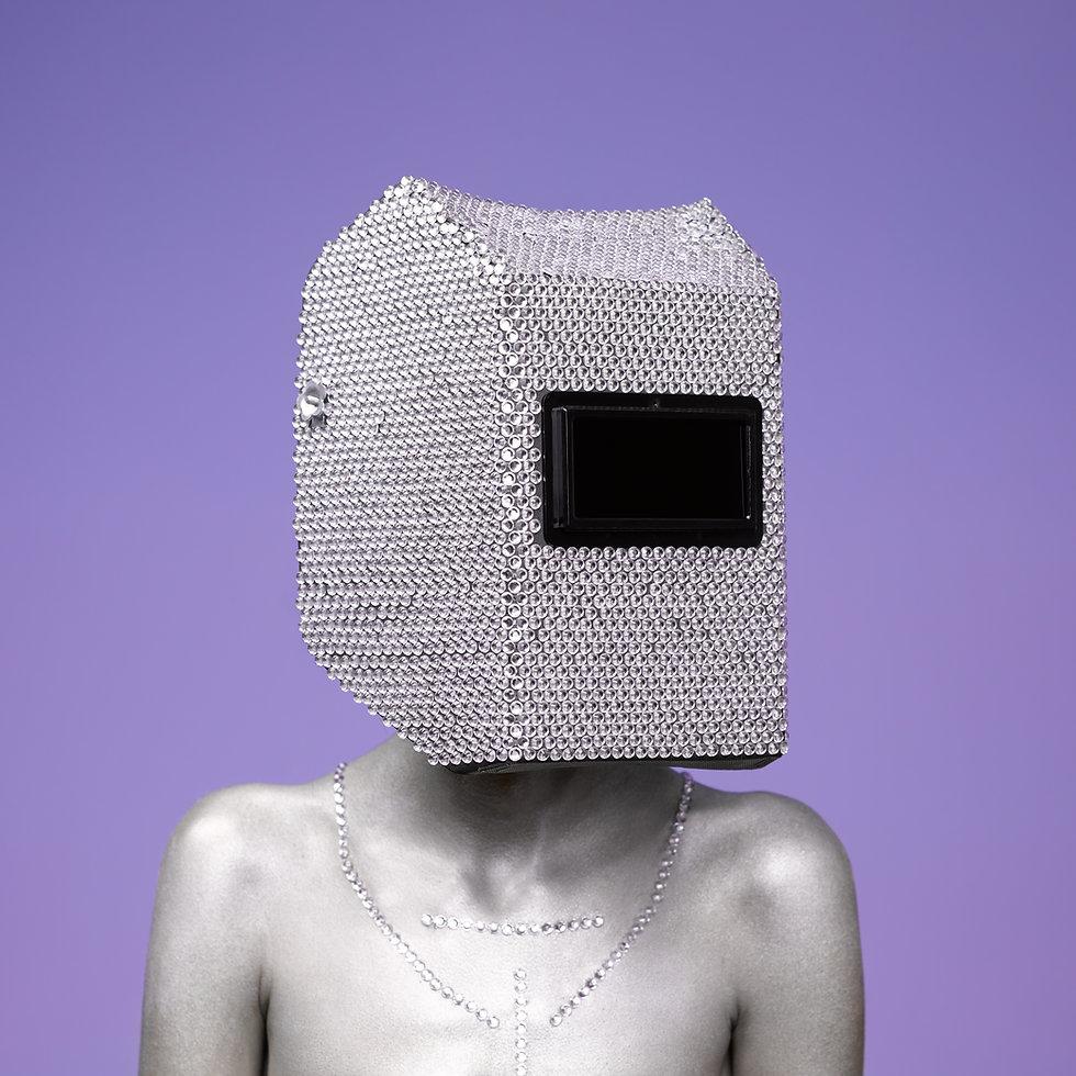 Figure with silver helmet