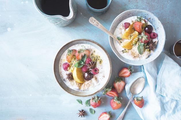 All retreats feature healthy eating menus.