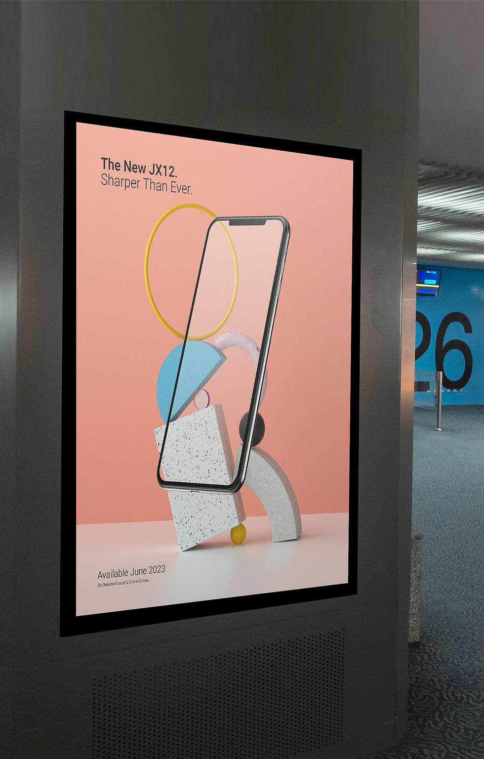 Mobile art ad