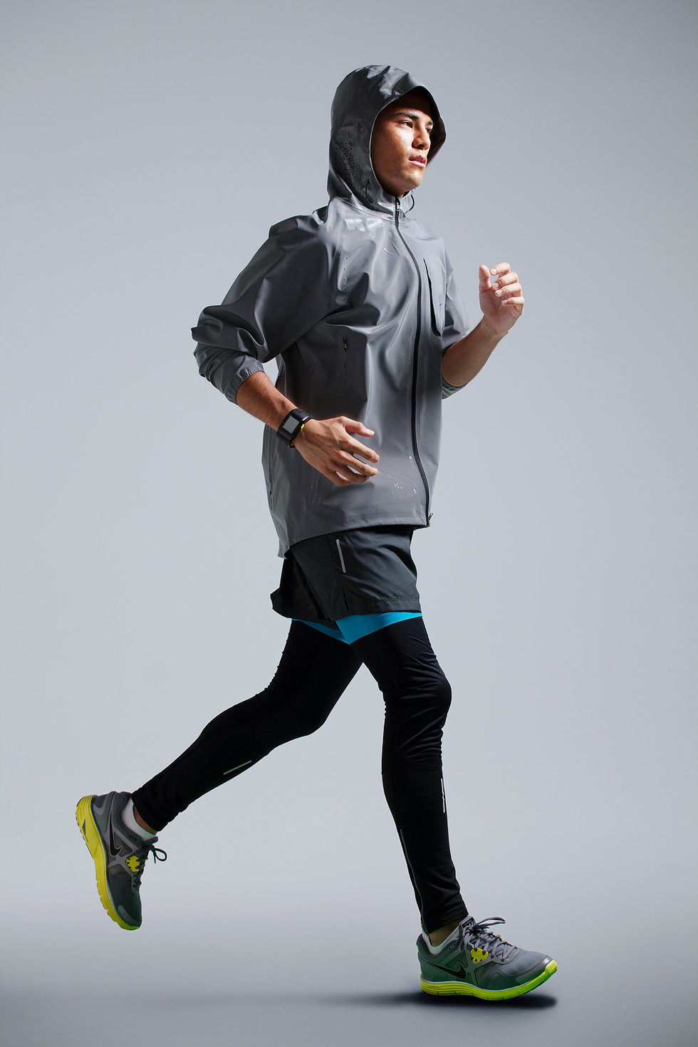 Man with running jacket