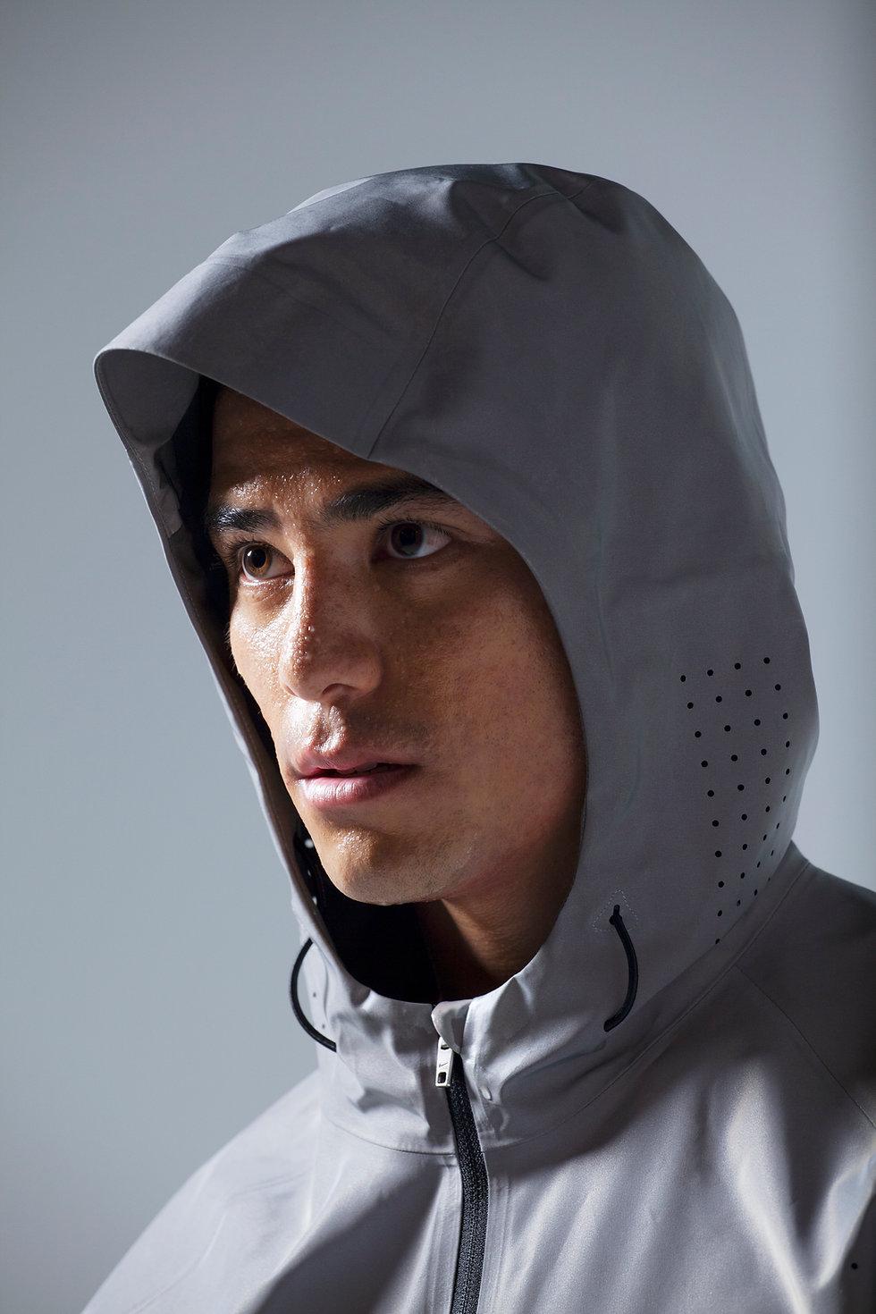 Man with running jacket - headshot