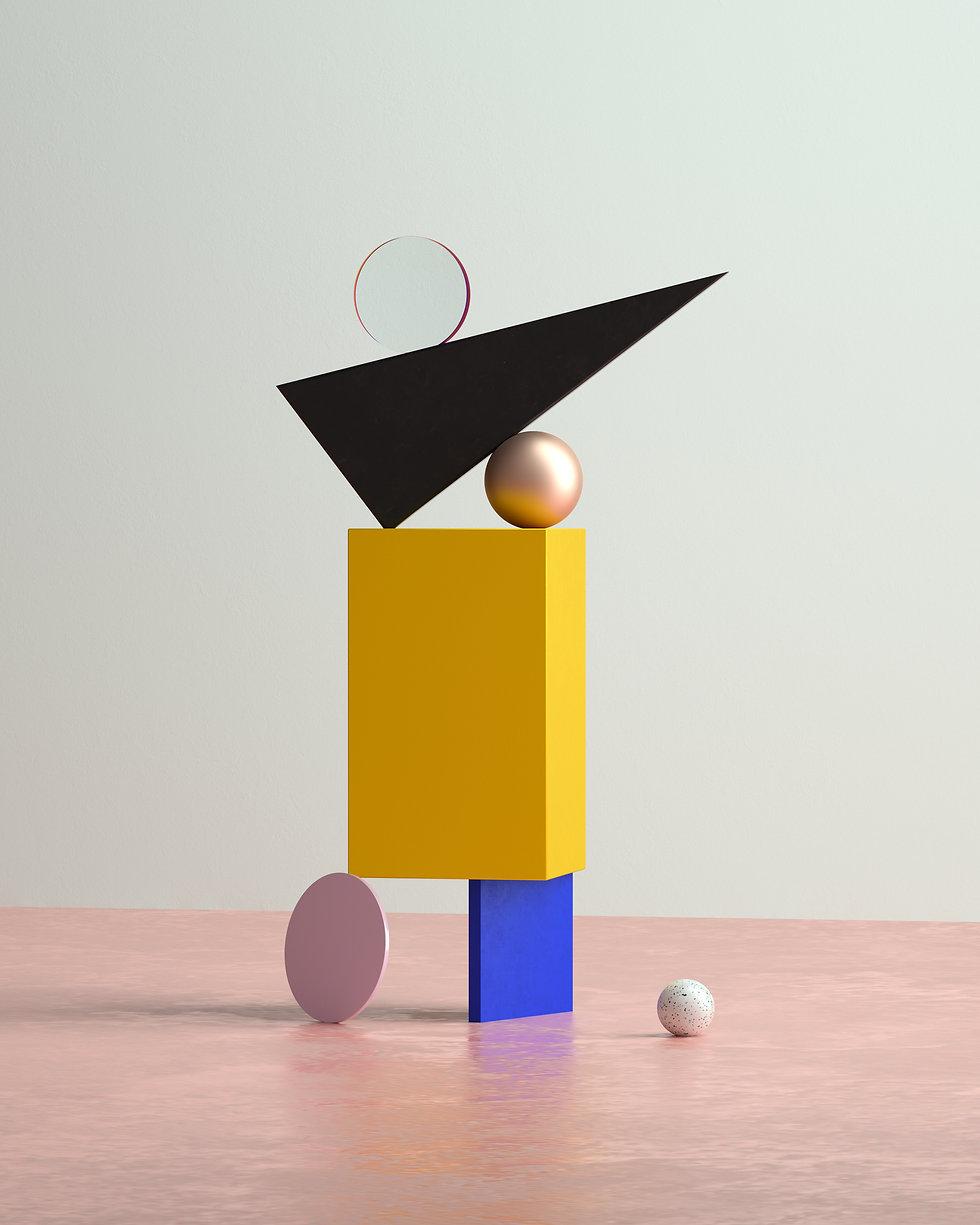 Geometric shapes in 3D