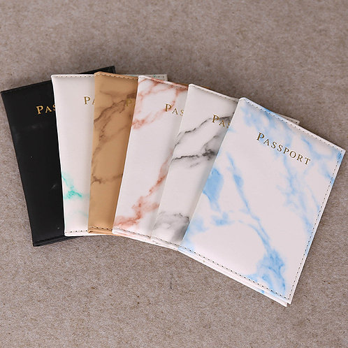Vintage Marble Passport Cover