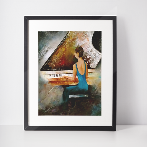 Piano Lady - Prints