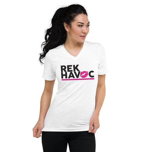 Rek-Havoc Kiss Unisex Short Sleeve V-Neck T-Shirt