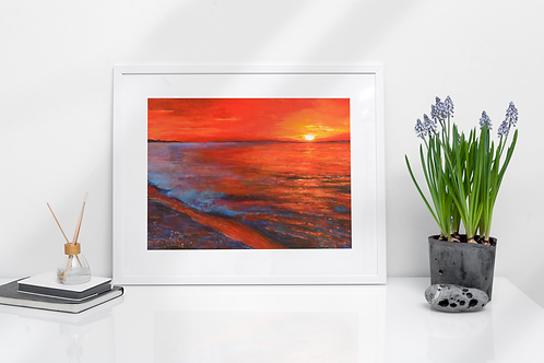Red Sunset - Prints