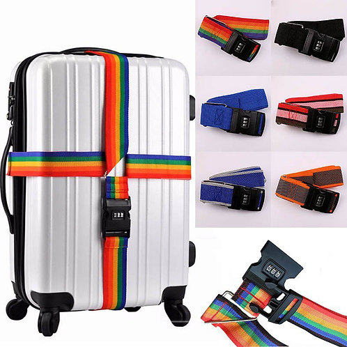 Adjustable Luggage Strap With Combination Lock