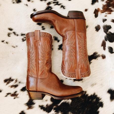 Handmade Vintage Style Cowboy Boot