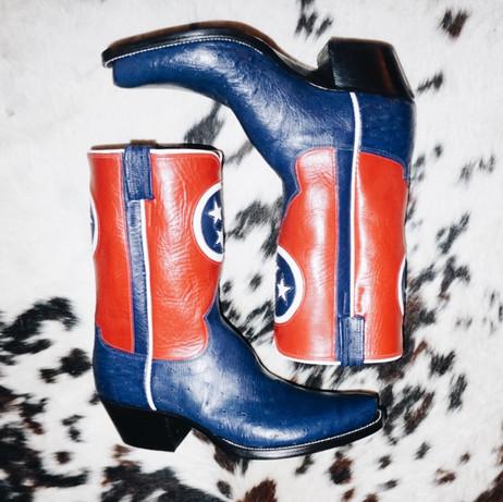 Tennessee Flag Custom Cowboy Boots