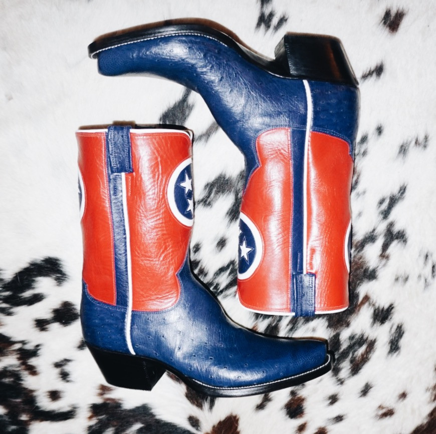 Tennessee Flag Custom Cowboy Boots