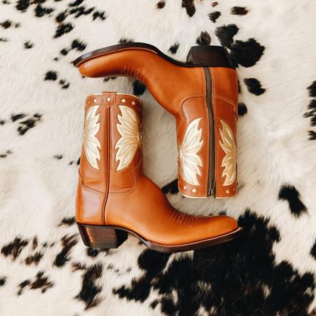 Side Zipper Cowboy Boot