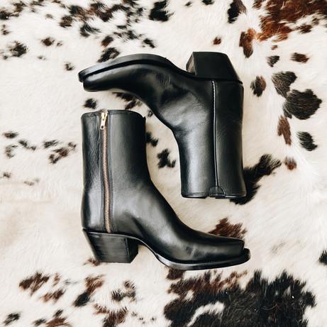 Mens Side Zipper Cowboy Boot