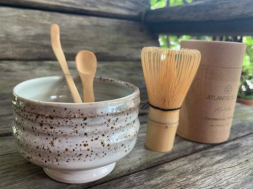 Matcha Gift Set- White and Raku Bowl