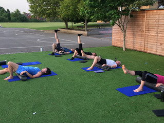 Summer is here and how lovely to workout al fresco! Especially when challenged on the foam roller...