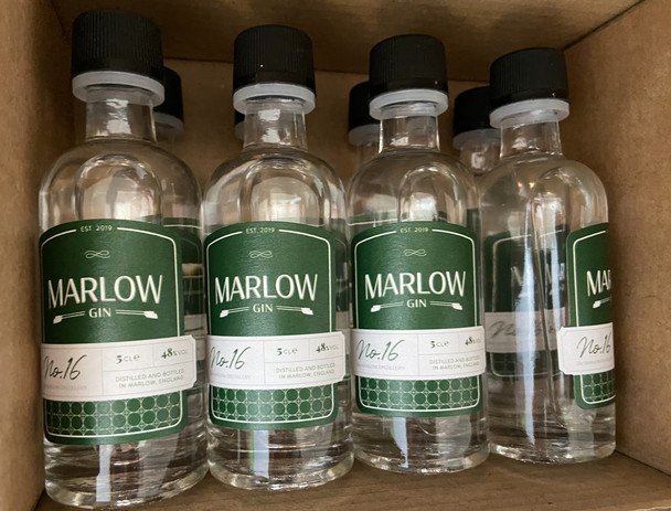 Mini Gins ready for posting out for online tastings