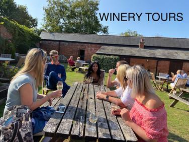 Enjoying the sunshine and the wine!