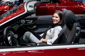 Mercedes Beifahrerin I Autoshow I Cemera Photography