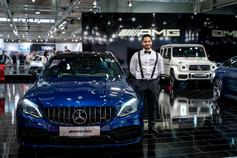 Blauer Mercedes I Autoshow I Cemera Photography