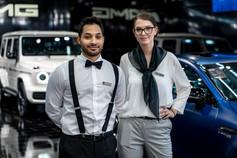 Mercedes Paar I Autoshow I Cemera Photography