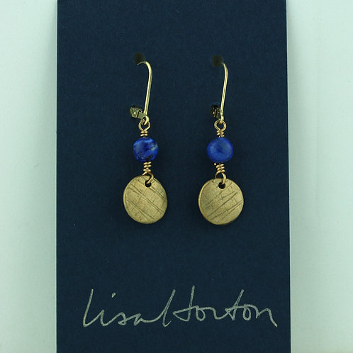 Small Disk with Lapis Lazuli/ Bronze