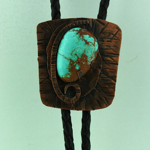 Copper Bolo Tie with Turquoise