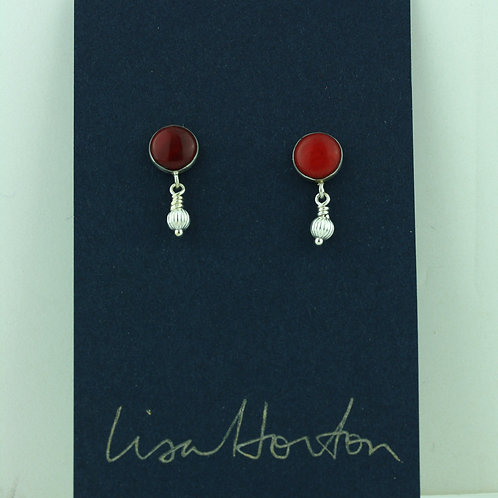 Red Coral with Little Silver Drop