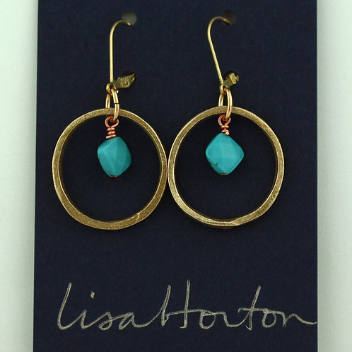 Large loop with turquoise/ Bronze