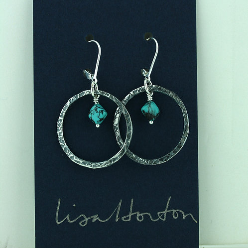 Large Loop with Turquoise Dangle