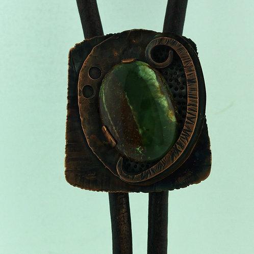 Copper Bolo Tie with Chrysoprase