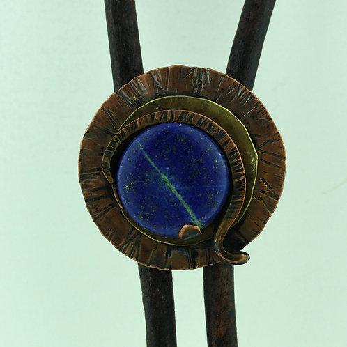 Copper Bolo Tie with Lapis Lazuli