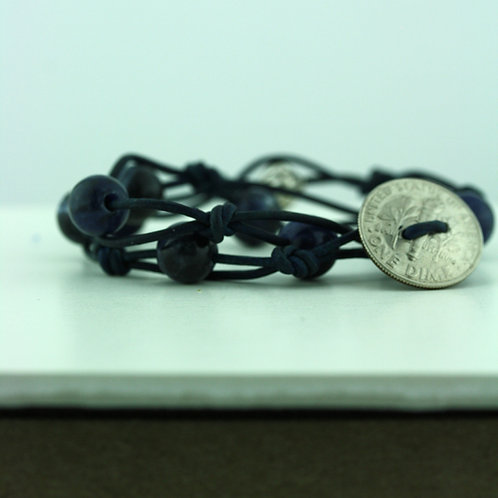 Coin Bracelet with Sodalite Beads