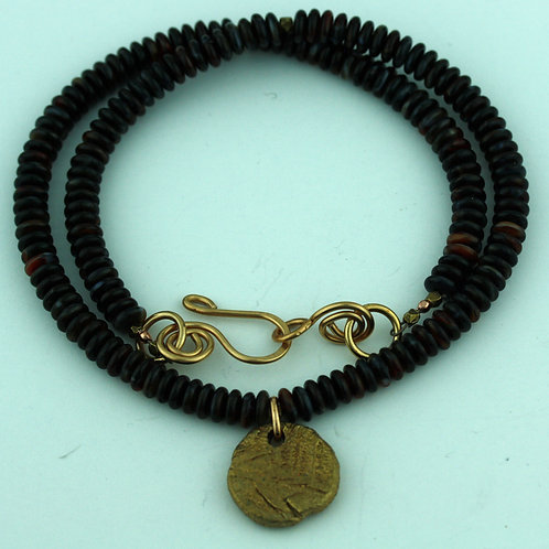 Necklace with Bronze Pendant
