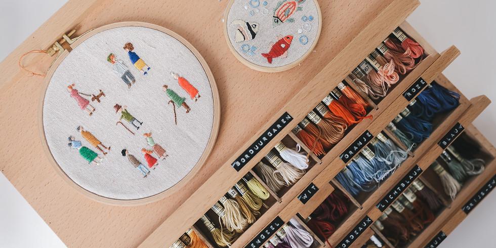 Borduren in borduurring - workshop