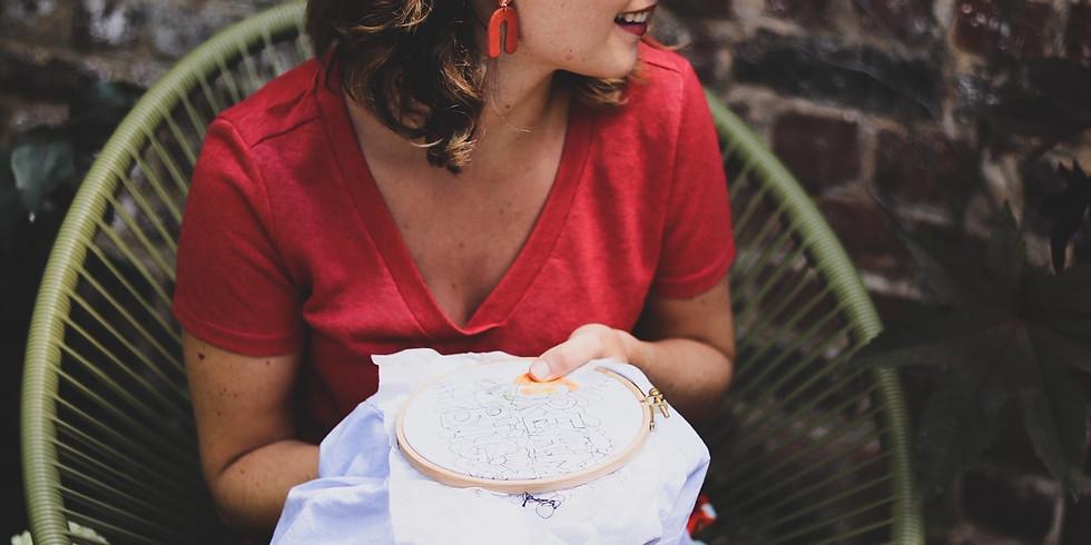 VOLZET Workshop borduren op kledij