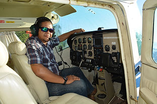 Julio inside his Cessna Airplane | Pantanal Trackers Tours