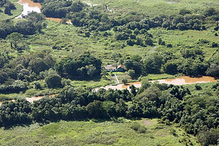 Aerial Photo of the Camping Place | Pantanal Trackers Tours