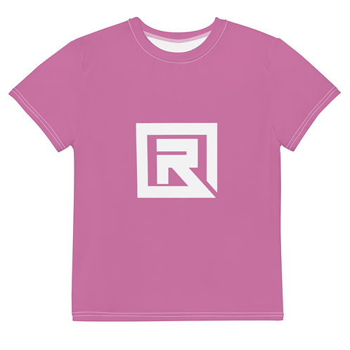 R! Youth crew neck t-shirt (Pink)