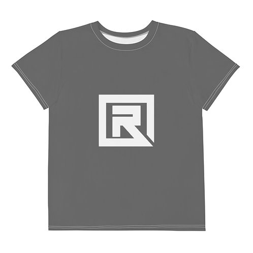 R! Youth crew neck t-shirt (Gray)