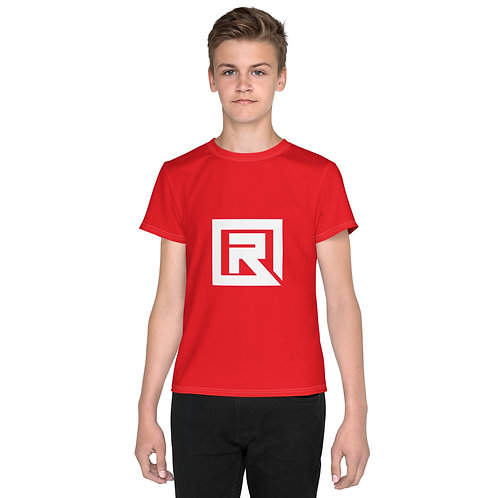 R! Youth crew neck t-shirt (Red)
