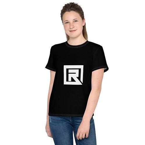 R! Youth crew neck t-shirt (Black)